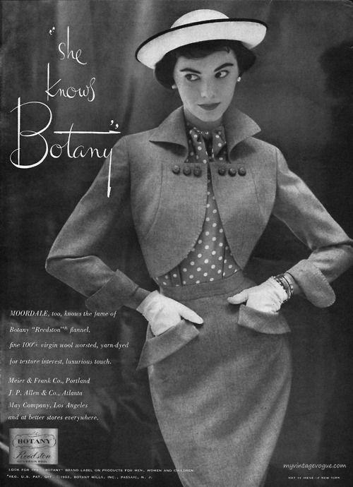 ad: Models Patsi, Vintage Styles, Botany 1953, Vintage Fashion, Patsi Shalli, 1950 S Fashion, 1950S Vintage, Vintage Ads, Vintage Clothing