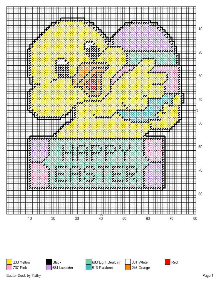 EASTER DUCK by KATHY