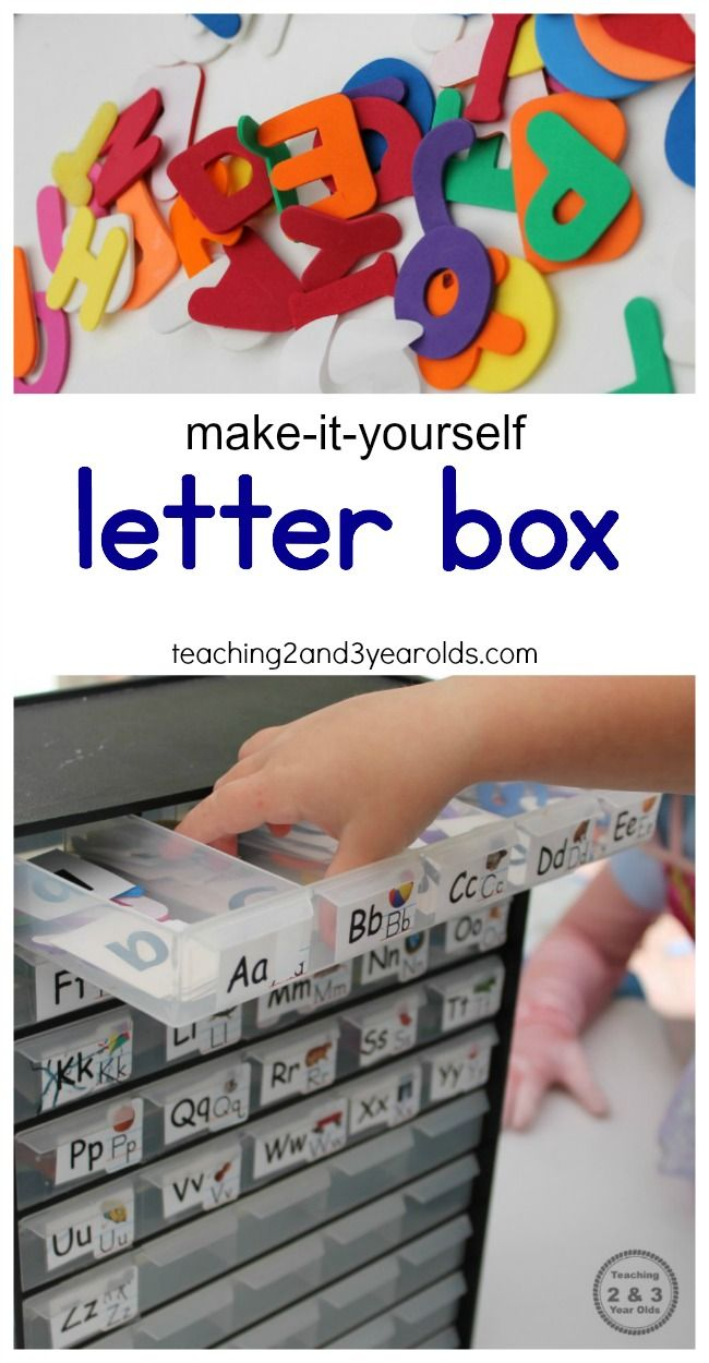 Preschoolers can learn the alphabet with their own simple ABC box! Easy to make for home or the classroom. Helps develop letter recognition for early literacy. Teaching 2 and 3 Year Olds