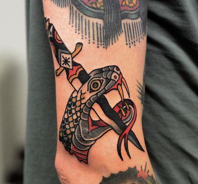 774 best tattoo ideas images on pinterest art tattoos drawing traditional snake and dagger tattoo design pic is a part of traditional dagger tattoo gallery if you like this photo take a look at some more tattoos fandeluxe Epub