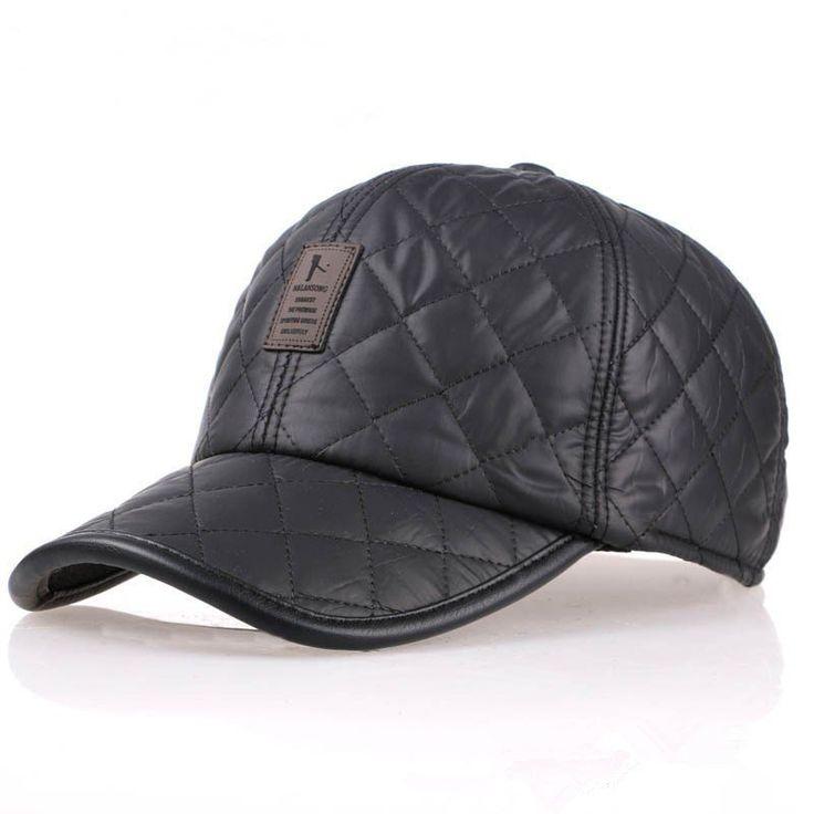 Maschio paraorecchie earflap berretto da baseball regolabile Golf Sport in bianco cappello all'aperto su Banggood