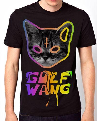 Odd Future Golf Wang Cat Black T-Shirt for sale ($28.00) - Svpply