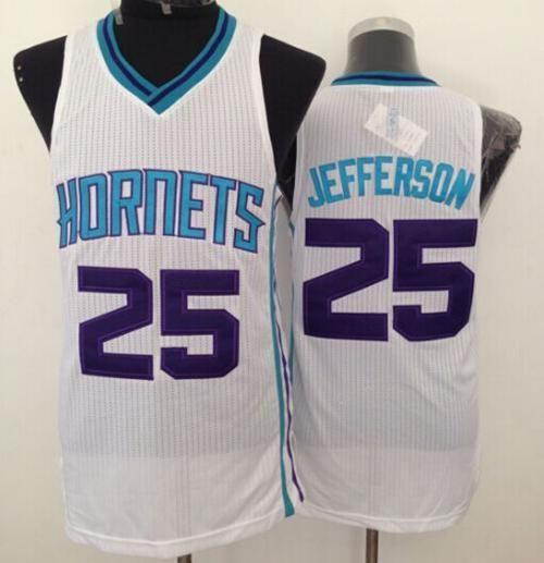 Revolution 30 Hornets #25 Al Jefferson White Stitched NBA Jersey very good jerseys online