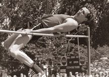 """Revolutionary Fosbury """"flop"""" used physics to enhance high jump technique and set World Record"""