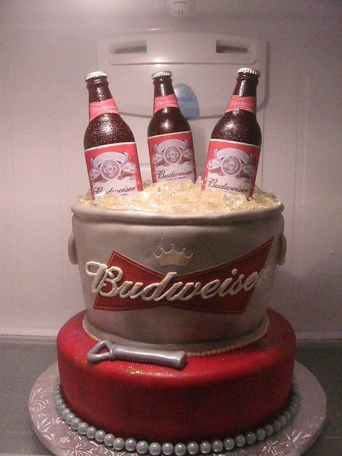 Budweiser cake by CreativeCreationsbyAmy, via Flickr