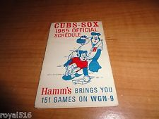 Chicago White Sox /CUBS 1965 DUAL SCHEDULE FOLDED SPONSORED HAMM'S AND WGN TV