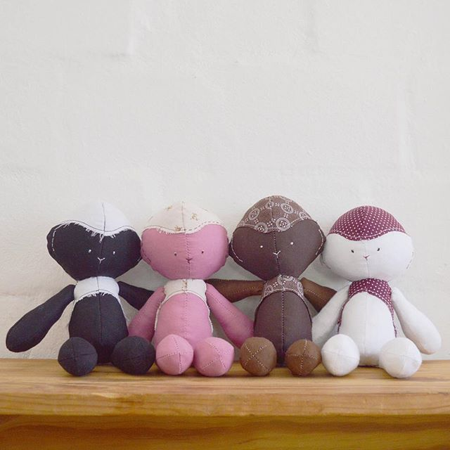 Floppies - Handmade fabric dolls. Floppie lambs are one of four kinds, to play with or use as décor. For sale online (soon!).