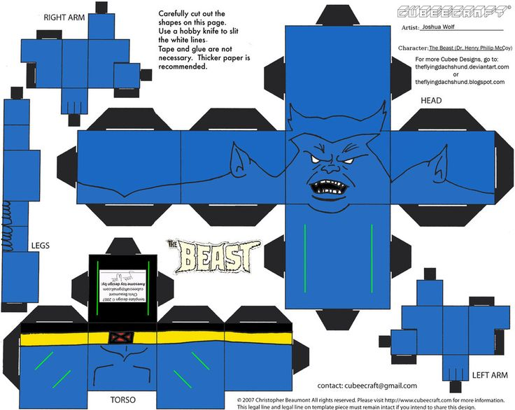 Marvel3: Beast Cubee por TheFlyingDachshund
