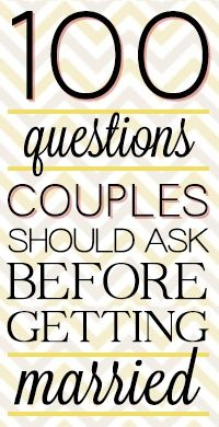 Love the Grows: Questions You Should Ask Before Marriage - Click image to find more Weddings Pinterest pins