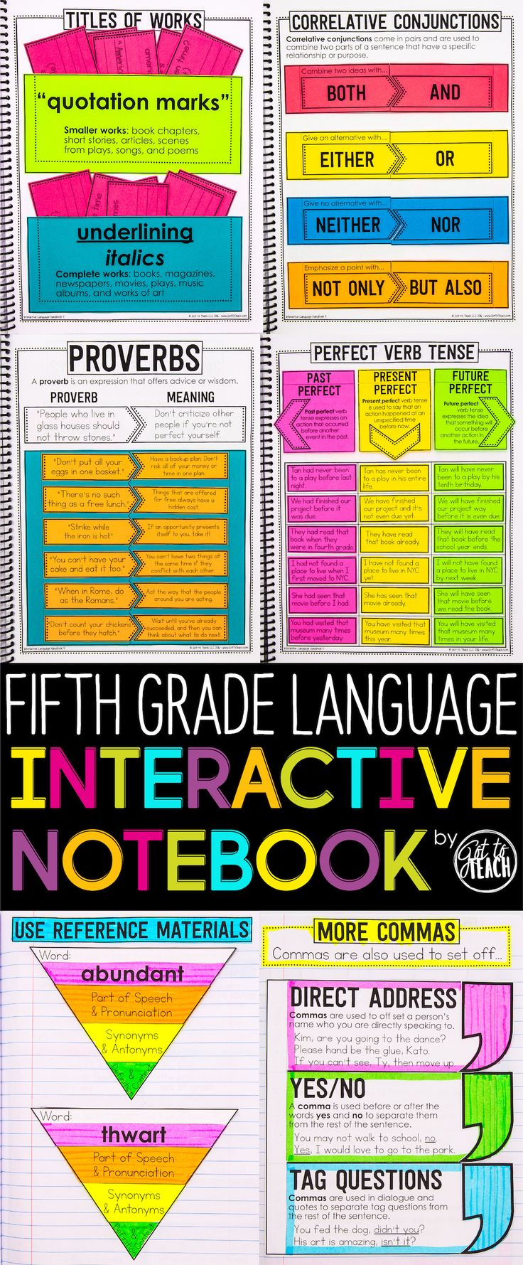 fifth Grade Language Interactive Pocket book Grammar Interactive Pocket book
