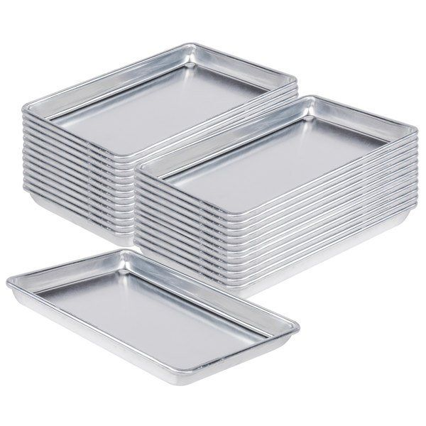 Baker S Mark Bulk Case Of 24 Quarter Size 19 Gauge 9 1 2 X 13 Wire In Rim Aluminum Bun Sheet Pans In 2020 Hotel Supplies Sheet Pan Restaurant Supplies