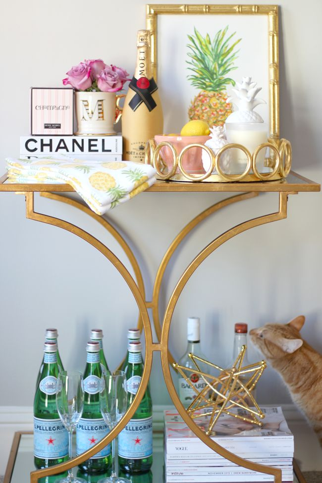 how to style your bar cart - How To Style A Bar Cart