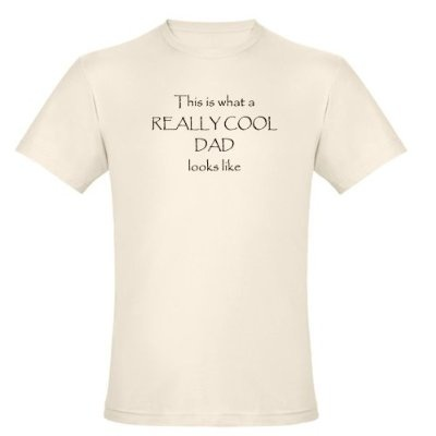 Really cool Dad Organic Cotton Tee Funny Organic Mens Fitted T-Shirt by CafePress