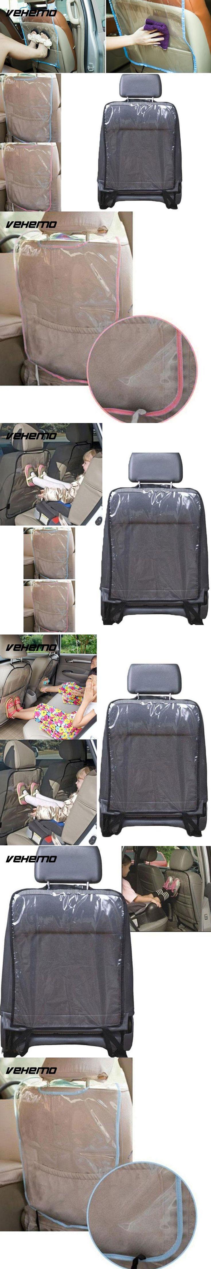 Vehemo Car Back Seat Protector Cover Children Anti Kick Mat Protector Pad Cushion Infant Car Seats Covers Storage Bag Organizer