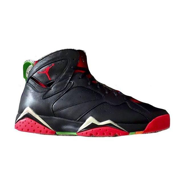 sale retailer 23293 a97aa Authentic 304775-029 Air Jordan 7 Retro Black University Red-Green  Pulse-Cool Grey (Woman Men)
