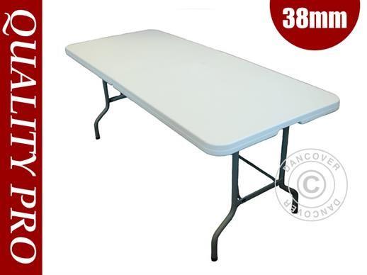 Hopfällbart bord 182x74x74cm, Ljusgrå (1 st.)