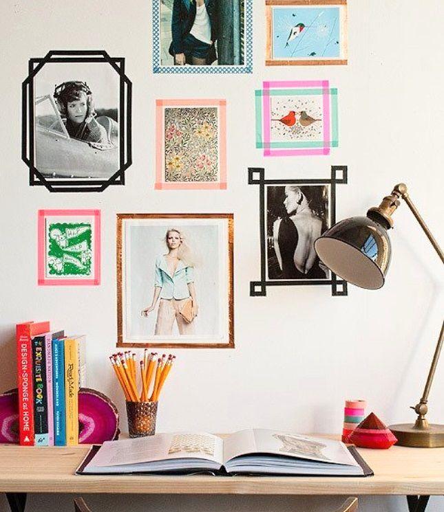 The cheapest + most colorful gallery wall idea! #diy | www.brightlivingnow.com