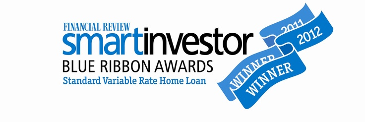 Smart Investor Blue Ribbon Awards Standard Variable Rate Home Loan Winner 2012