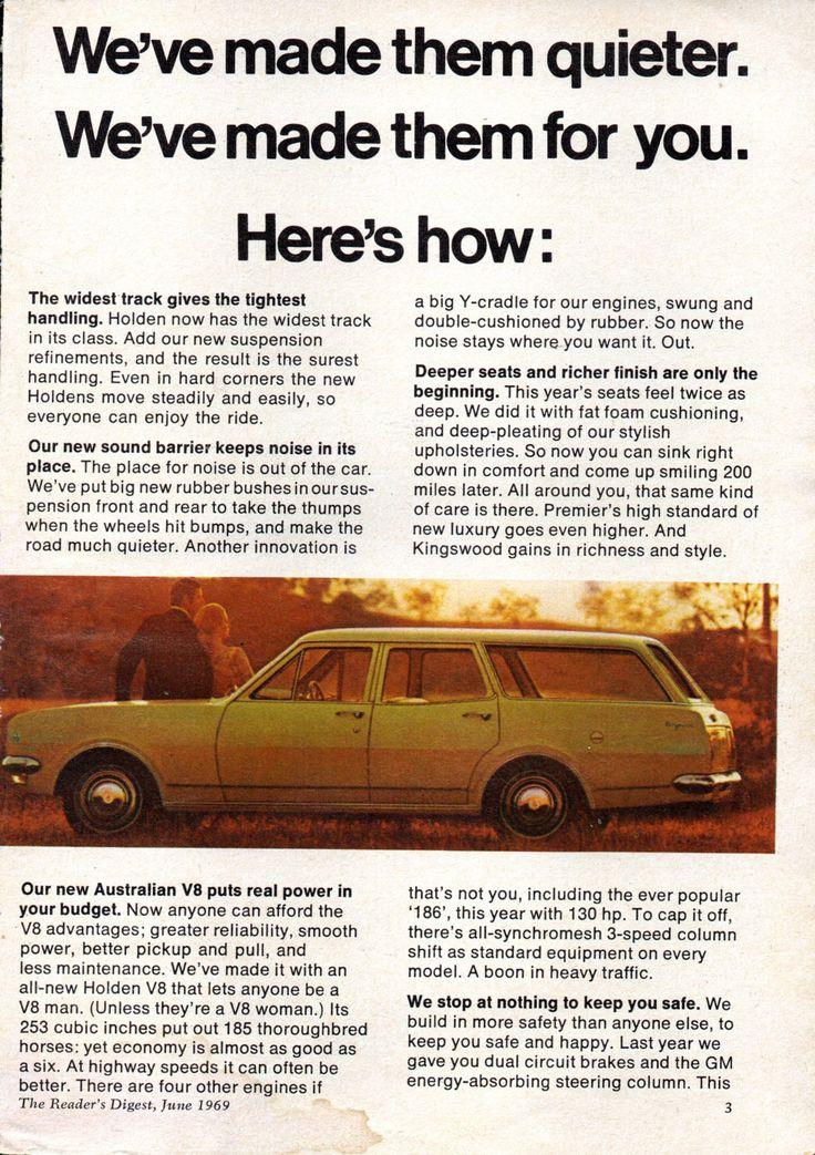 https://flic.kr/p/M777gG | 1969 HT Holden Range Belmont Kingswood Premier Page 3 Aussie Original Magazine Advertisement
