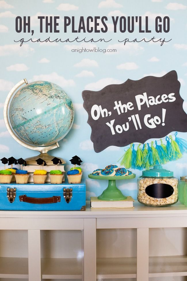 Oh The Places You'll Go Graduation Party | anightowlblog.com