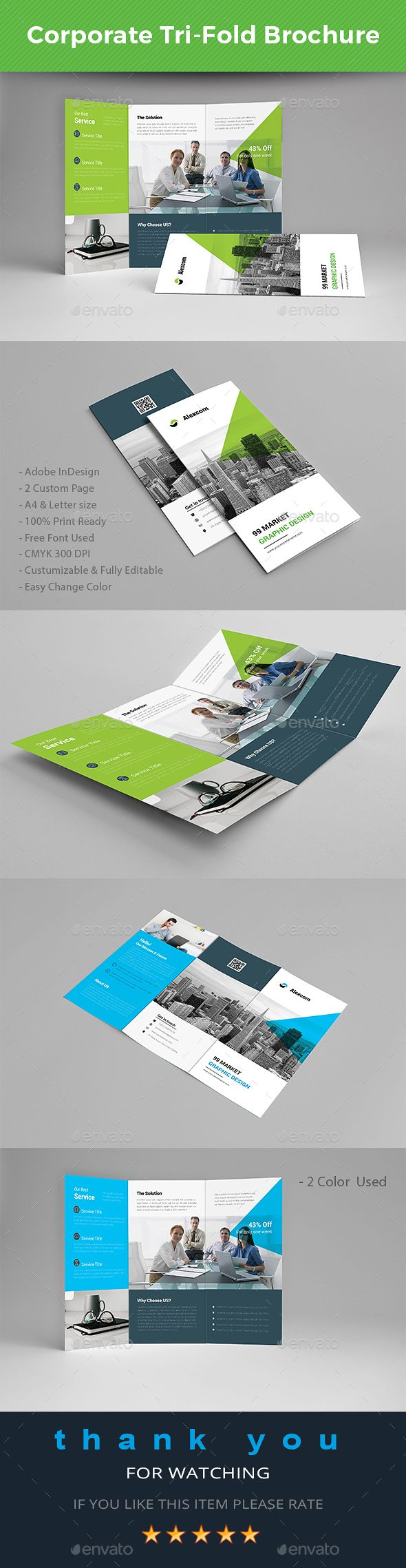 481 best brochure inspiration images on pinterest for Letter size brochure template