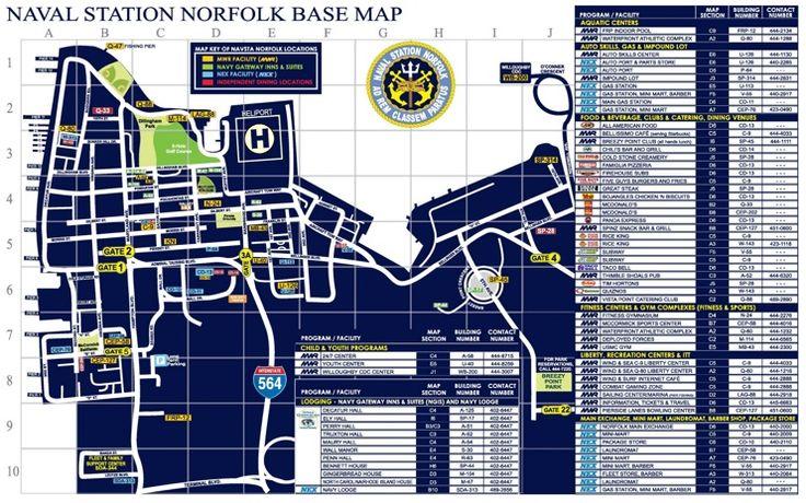 Naval Station Norfolk Base map