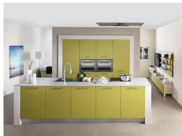 50 cuisines ultra color es cuisine et salle de bains - Cuisine vert olive ...