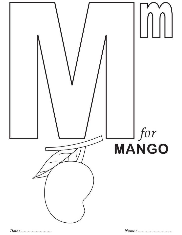 m preschool coloring pages - photo#22