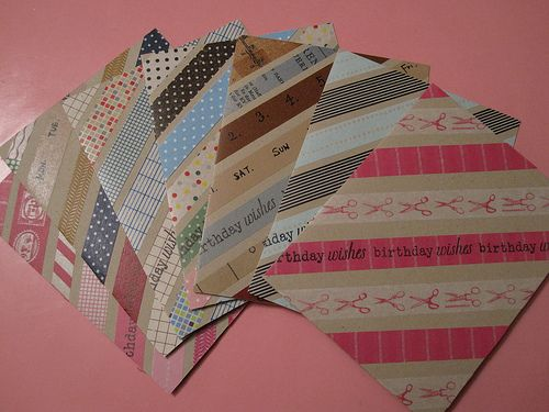 cards using the washi tapes