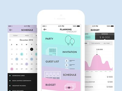 Wedding Planner App Design