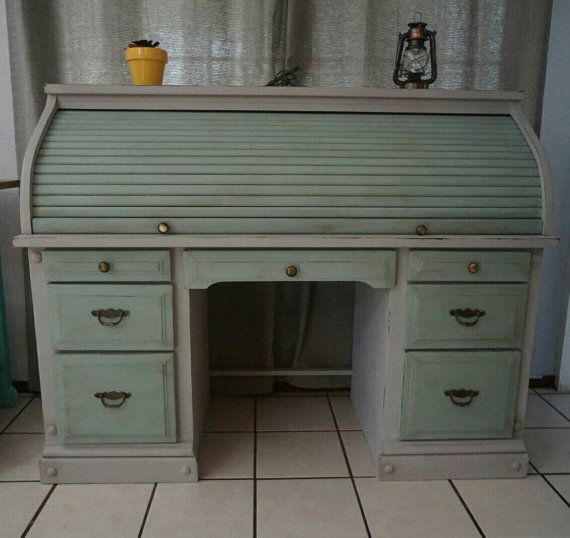 Beautiful refurbished roll top desk!