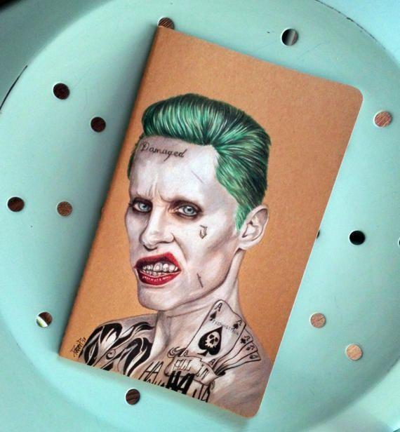 Custom Moleskine Joker Jared Leto l size Handpainted