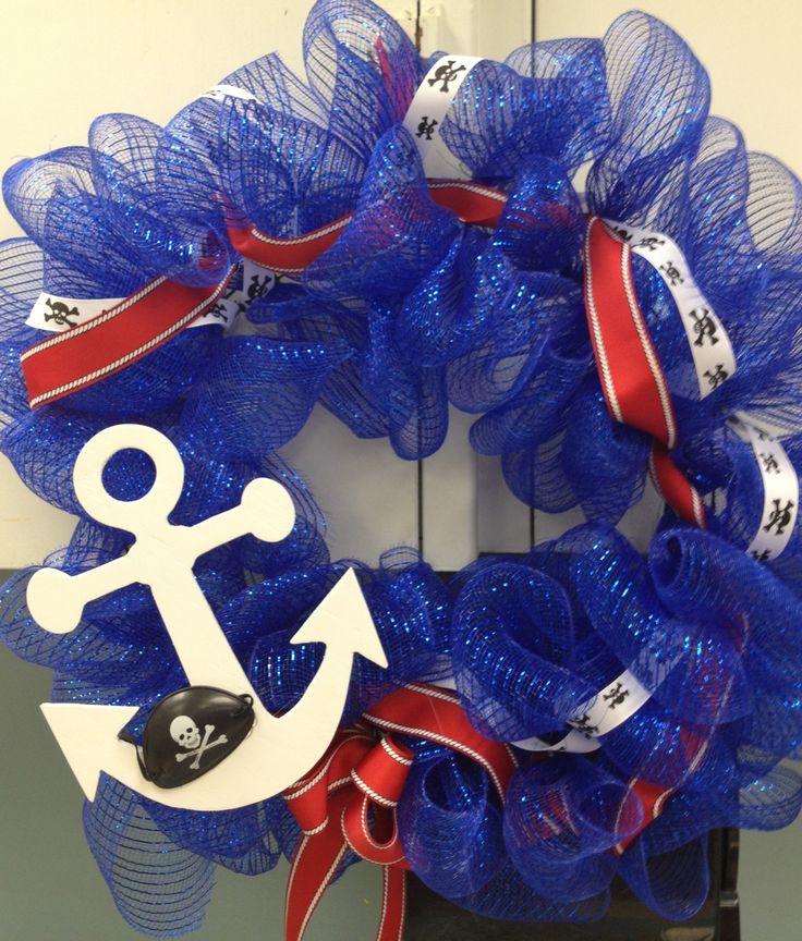 Sailing thru Kindergarten classroom wreath