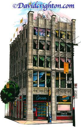 #FashionWeek and City TV #2 Speakers, Toronto, Canada by Artist Illustrator David Crighton Art