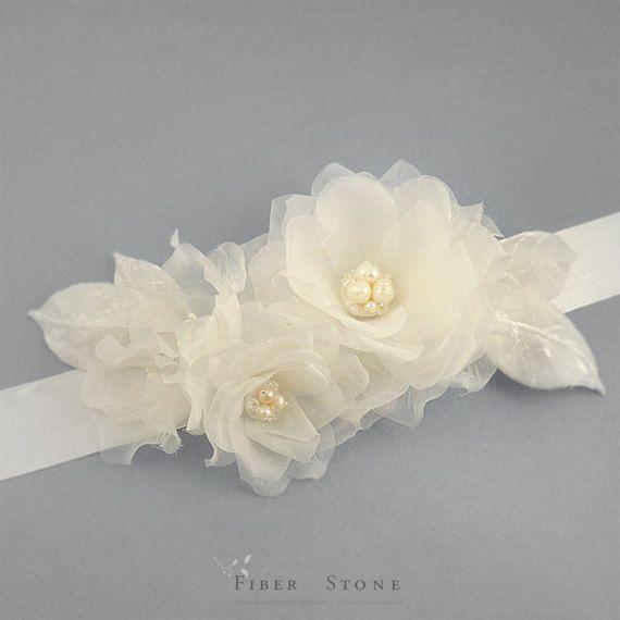 Pure SILK Wedding Sash Belt Wedding Dress Sash Silk by FiberStone, $145.00