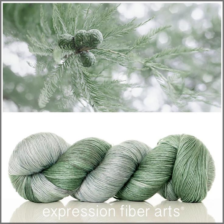 Expression Fiber Arts, Inc. - CYPRESS SUPERWASH MERINO SILK PEARLESCENT FINGERING YARN - shimmering muted silver green