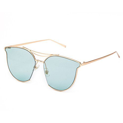 5d57a1f21937e MT MIT Womens Fashion Full Metal Half Frame Mirror Lens Cat Eye Sunglasses  UV Protection