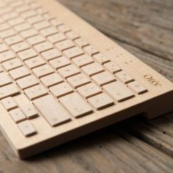 "French design group Oree has developed a ""new"" keyboard crafted out of a single, solid piece of premium walnut wood."