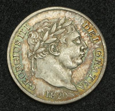 Coins of Great Britain 4 Pence Silver Coin of 1820, King George III. The Groat or fourpence is the name of a long-defunct British silver coin worth four English pence.