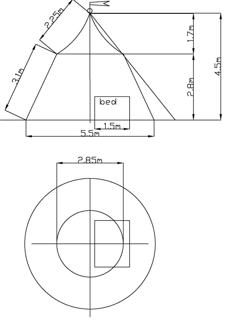 circus tent plan and elevation
