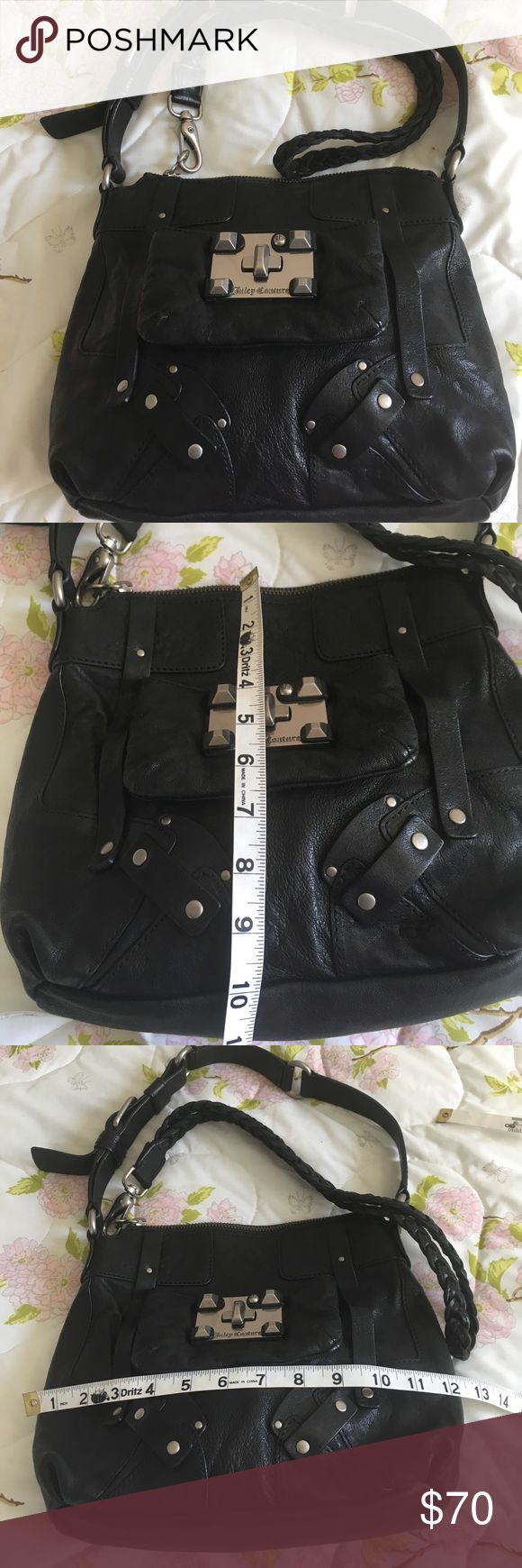 Juicy Couture Bag Used two times like new beautiful leather Bag. From smoke free home. Make me an offer Juicy Couture Bags