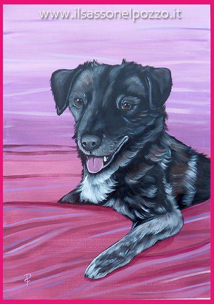 Ritratto di MIrtillo. Dipinto su pannello telato 50x70 cm.