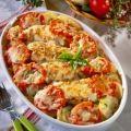 Receptek Lajos Mari konyhájából - Sajtos-paradicsomos rakott csirkemell