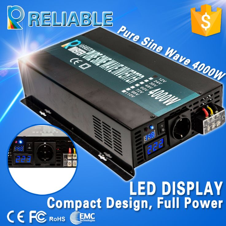 Find More Inverters & Converters Information about New! LED Display 4000W Full Power 8000w peak household high efficiency off grid pure sine wave solar power inverter for home,High Quality led fade,China inverter japan Suppliers, Cheap led burn from Reliable Electric Power Store on Aliexpress.com
