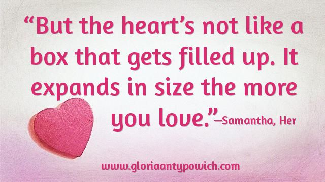 "More ‪#‎romantic‬ movie quotes heart emoticon this one from Samantha, from the movie ""Her""  ‪#‎author‬ ‪#‎lovestories‬ ‪#‎relationships‬"