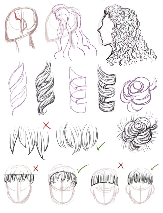 """bluejamjarart: """" someone asked me to do a hair and face tutorial, but i'm not so good with faces so i only drew the hair one uvu """""""