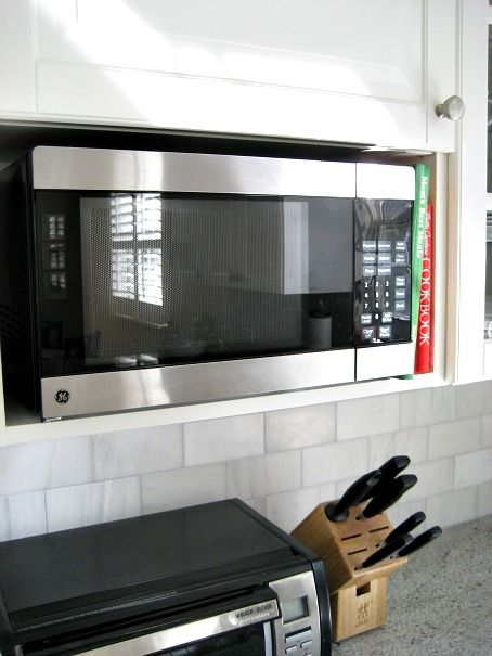 How to install Ikea microwave cabinet without extra shelf