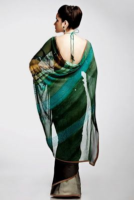 Satya Paul Printed Sarees Chiffon Printed Sarees - New Best Girls