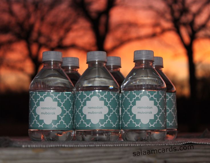 Set of 12 ramadan mubarak Water Bottle Labels by SalaamCards on Etsy   #ramadanmubarak #ramadan #eid #ramadanfavors #ramadaniftars  https://www.etsy.com/listing/226755453/set-of-12-ramadan-mubarak-water-bottle