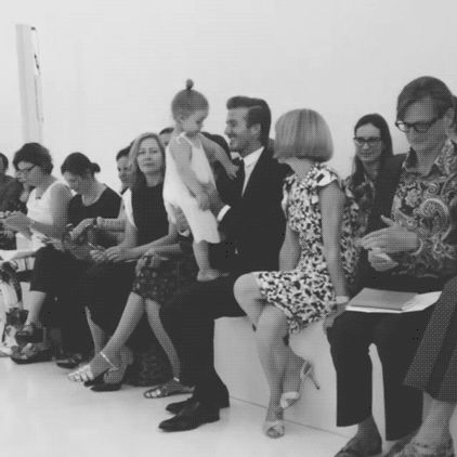 11 Times Anna Wintour Had No Time For Basics #refinery29  http://www.refinery29.com/2014/11/77115/anna-wintour-gifs#slide9  No matter how adorable your spawn is, Anna will subtly inch away, lest they drool on her de la Renta.